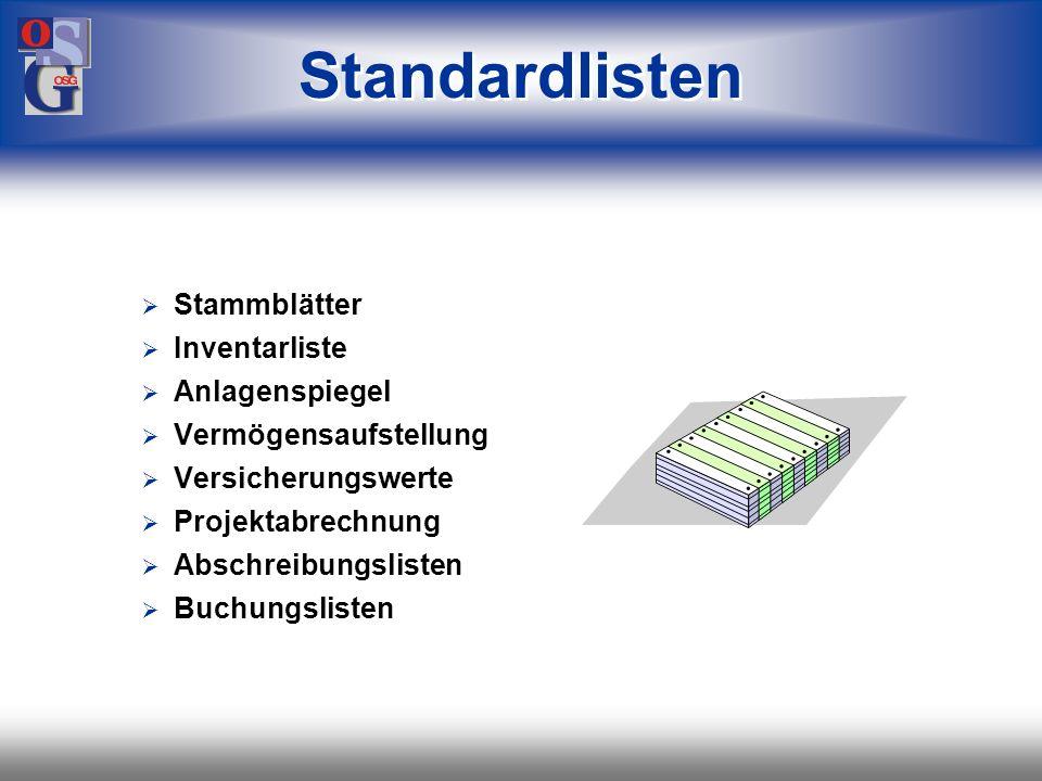 OSG 39 Die Wünschelrute sucht Wirtschaftsgüter nach der Eingabe von Daten Textelemente Bezeichnung Lieferantenname Anlagenart geplant im Bau aktiv fre