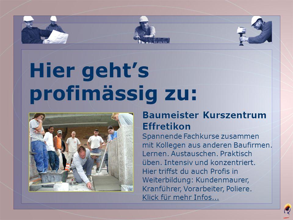 So findest du eine Schnupperstelle/Lehrstelle www.bau-lehre.ch Adressen aller Baufirmen in deiner Region, die Lehrlinge ausbilden. Telefon 044 381 64