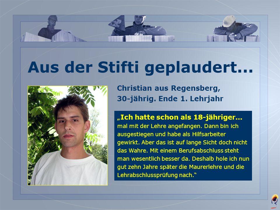Thomas aus Zürich-Seebach, 17-jährig. Ende 1. Lehrjahr Ich lerne den für mich......absolut richtigen Beruf. Das Handwerkliche lag mir schon immer, und