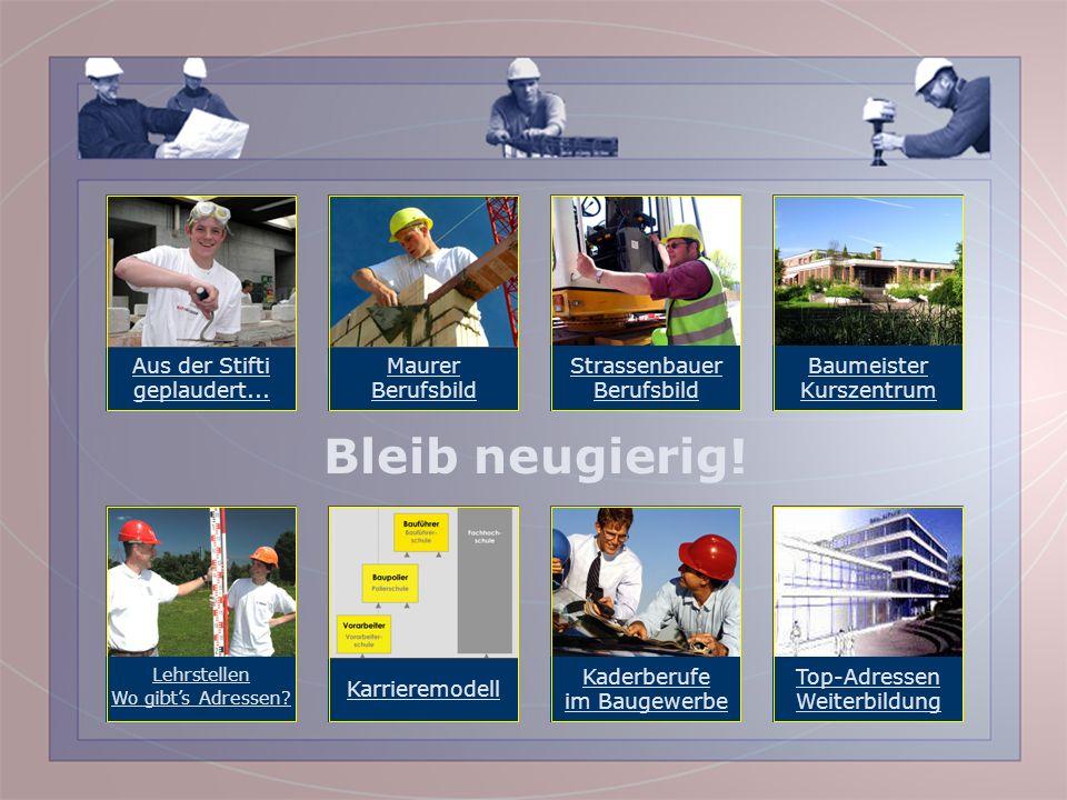 Willkommen im Kreis der Bau-Profis! Mehr Infos: Baumeister Kurszentrum Sempacherstr. 15, 8032 Zürich Telefon 044 381 64 11 E-Mail: info@bau.chinfo@bau