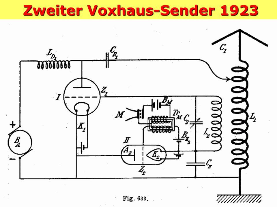 Erster Voxhaus-Sender 1923