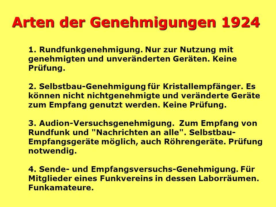 Rundfunkgesellschaften Rundfunkgesellschaften Funkstunde AG (Berlin) Mitteldeutsche Rundfunk AG (MIRAG, Leipzig) Deutsche Stunde in Bayern GmbH, Münch