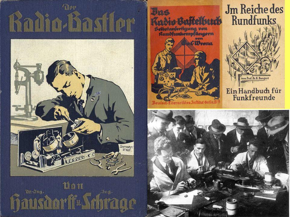 Straßenhändler 1924 in Berlin Verkauf von Literatur zum Thema Radio