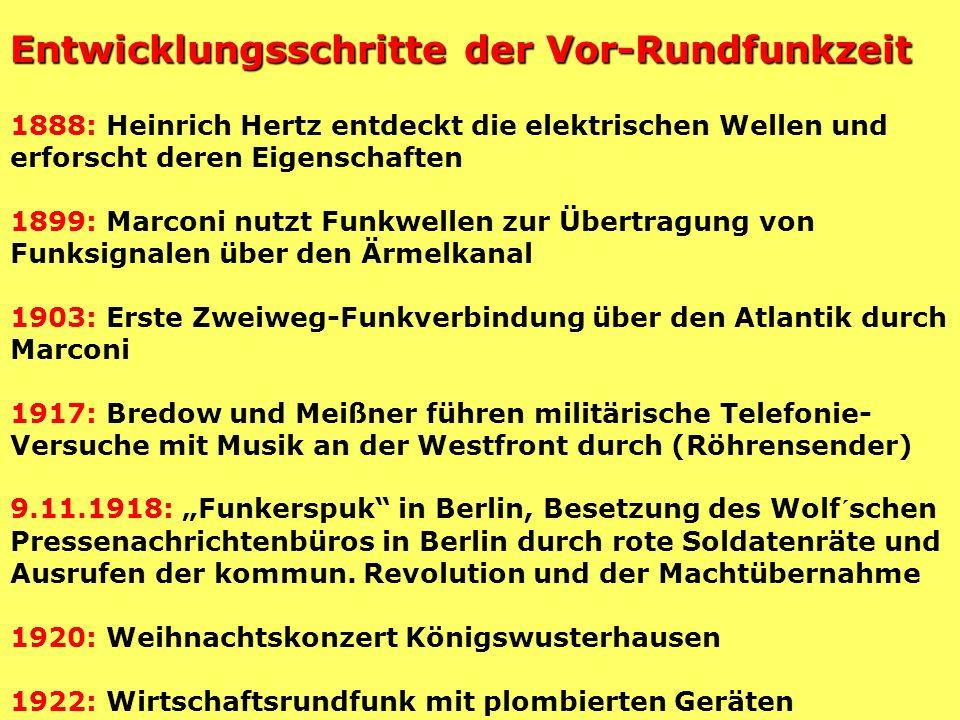 Erste Rundfunk- Genehmigung in Deutschland 350 Milliarden Reichsmark für Zigarrenhändler Wilhelm Kollhof