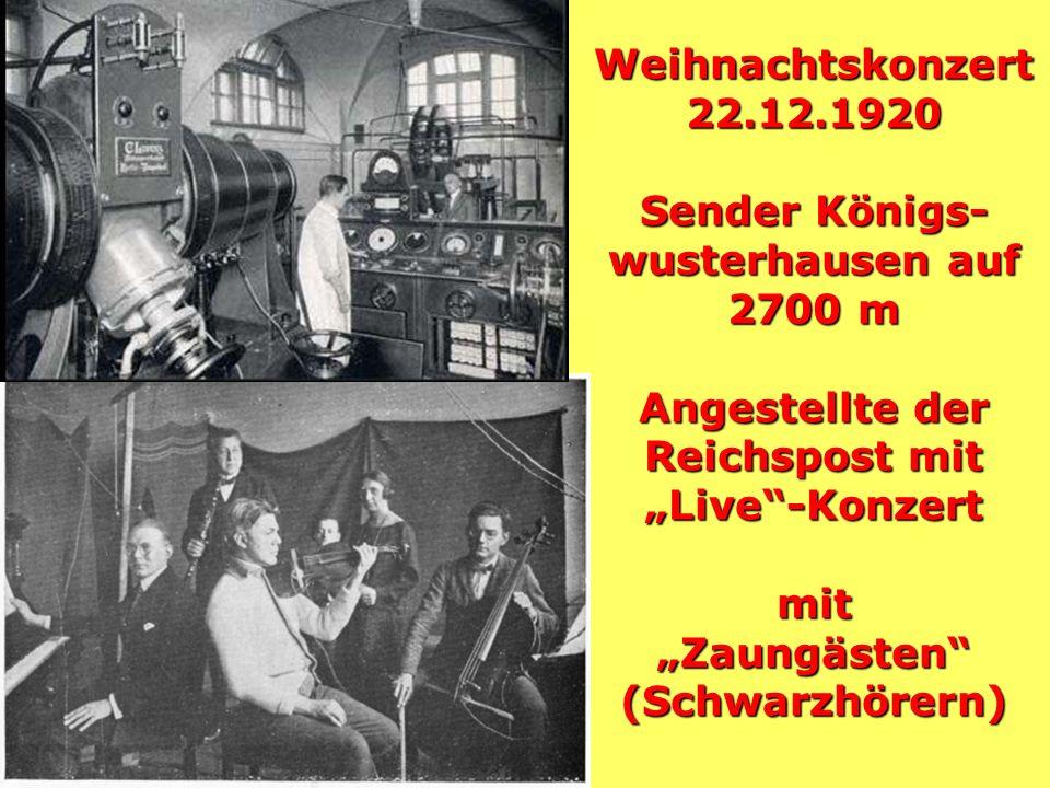 Entwicklungsschritte der Vor-Rundfunkzeit Entwicklungsschritte der Vor-Rundfunkzeit 1888: Heinrich Hertz entdeckt die elektrischen Wellen und erforsch