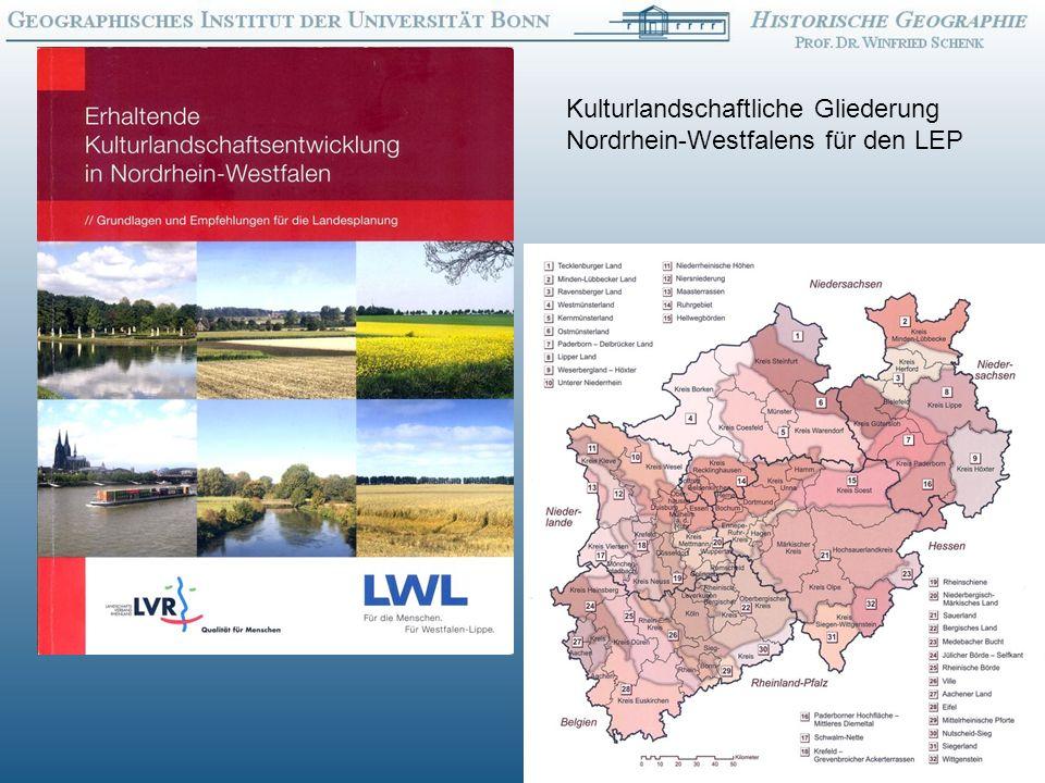 17 Kulturlandschaftliche Gliederung Nordrhein-Westfalens für den LEP