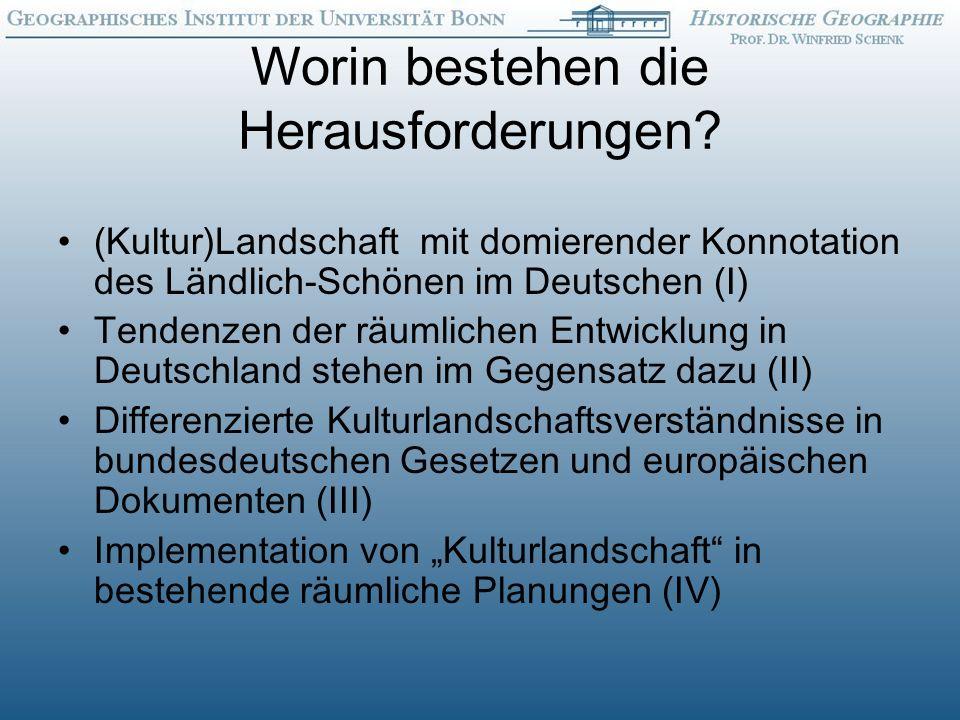 Politisch-kulturelle Dimension des aktuellen (Kultur)Landschaftswandels: Verlusterfahrung Landschaft Verlusterfahrung Landschaft (G.