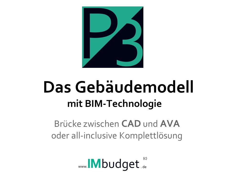 Das Gebäudemodell mit BIM-Technologie Brücke zwischen CAD und AVA oder all-inclusive Komplettlösung