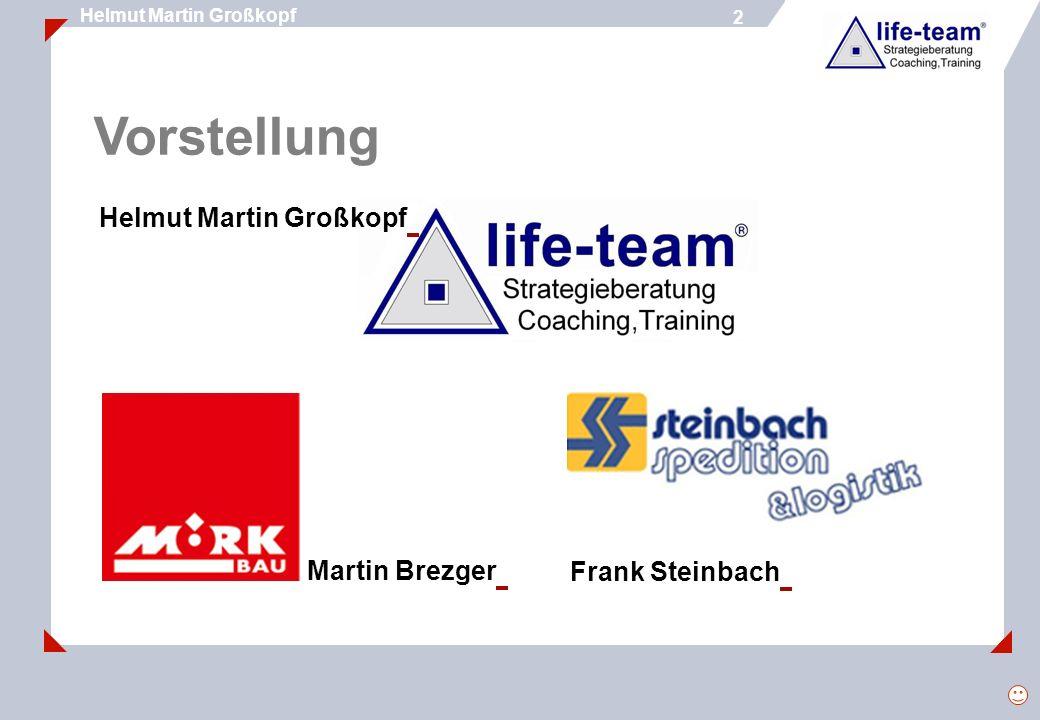 2 Helmut Martin Großkopf 2 Vorstellung Helmut Martin Großkopf Martin Brezger Frank Steinbach