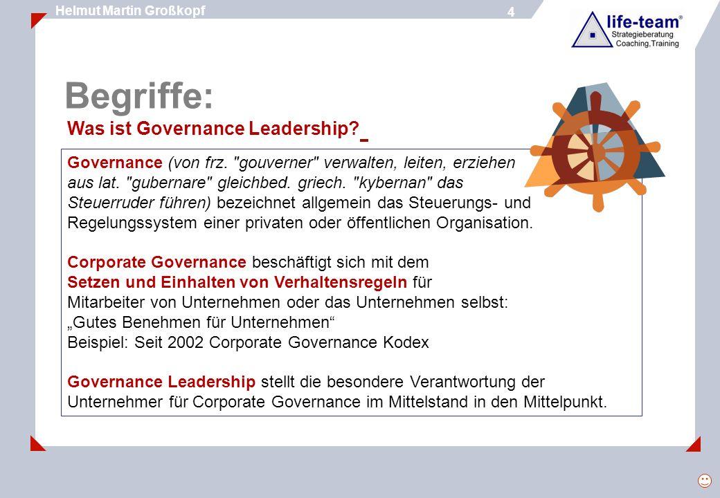 5 Helmut Martin Großkopf 5 Werte - Ethik - Tugend Werte sind Vorstellungen über Eigenschaften (Qualitäten), die Dingen, Ideen, Beziehungen u.
