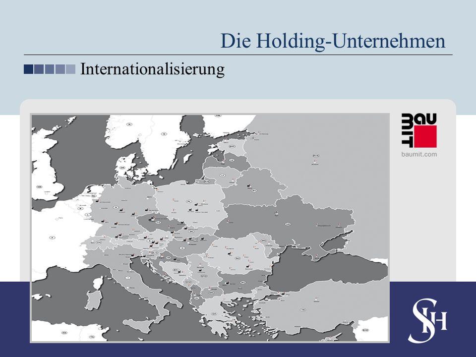 Die Holding-Unternehmen Internationalisierung