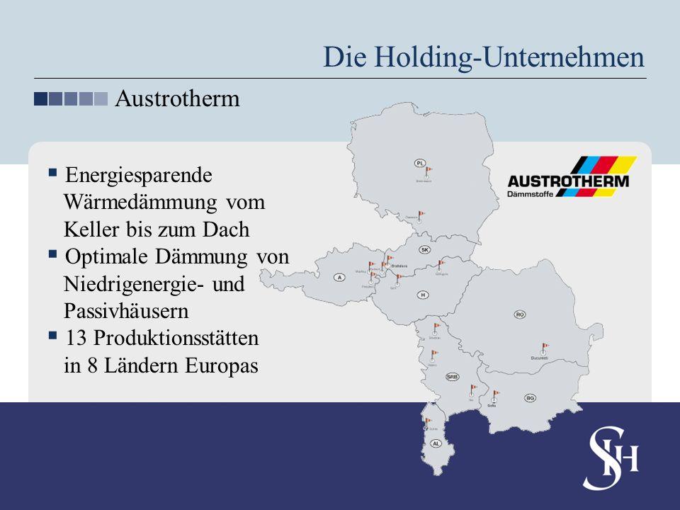 Die Holding-Unternehmen Austrotherm Energiesparende Wärmedämmung vom Keller bis zum Dach Optimale Dämmung von Niedrigenergie- und Passivhäusern 13 Pro