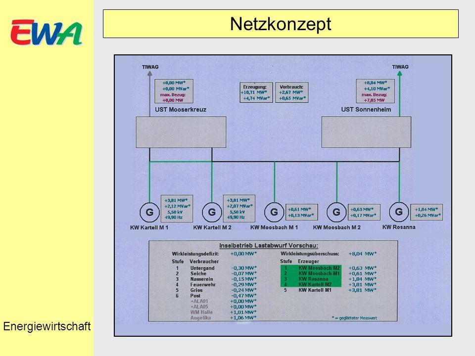 Netzkonzept Energiewirtschaft