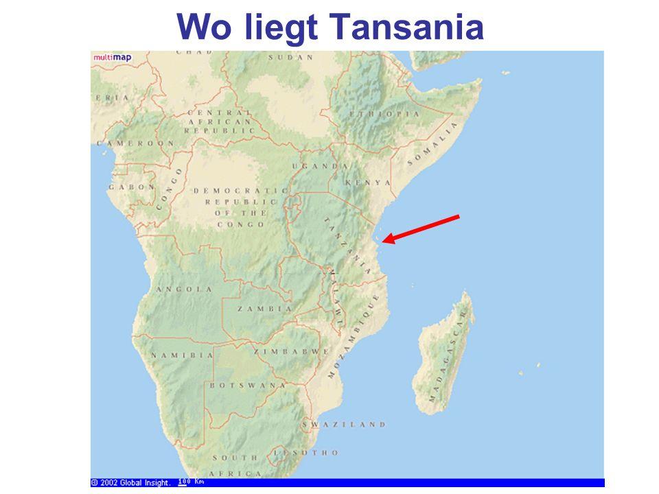 Wo liegt Tansania