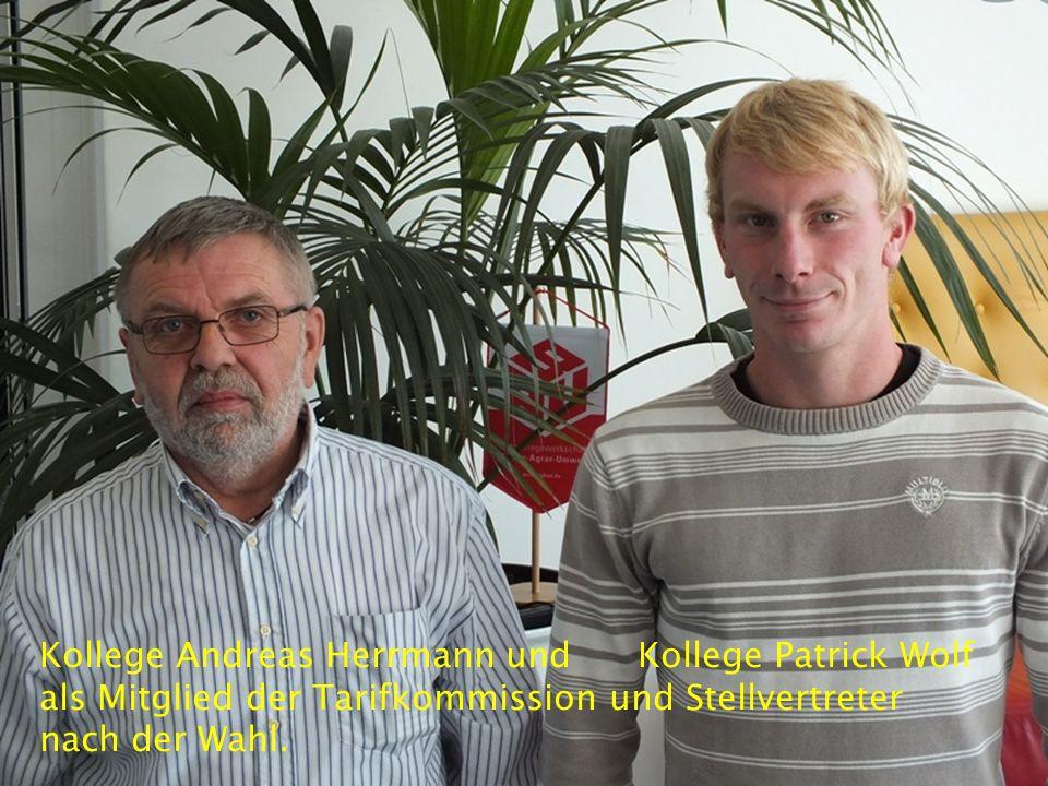 Kollege Andreas Herrmann und Kollege Patrick Wolf als Mitglied der Tarifkommission und Stellvertreter nach der Wahl.