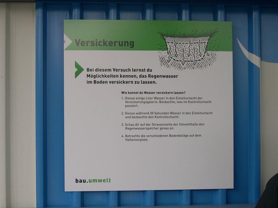 Kurzeinlage: Werbung für die Umwelthalle in Sursee 15 AWEL, Baustellen-Umwelt-Controlling (BUC) 14. Dezember 2006