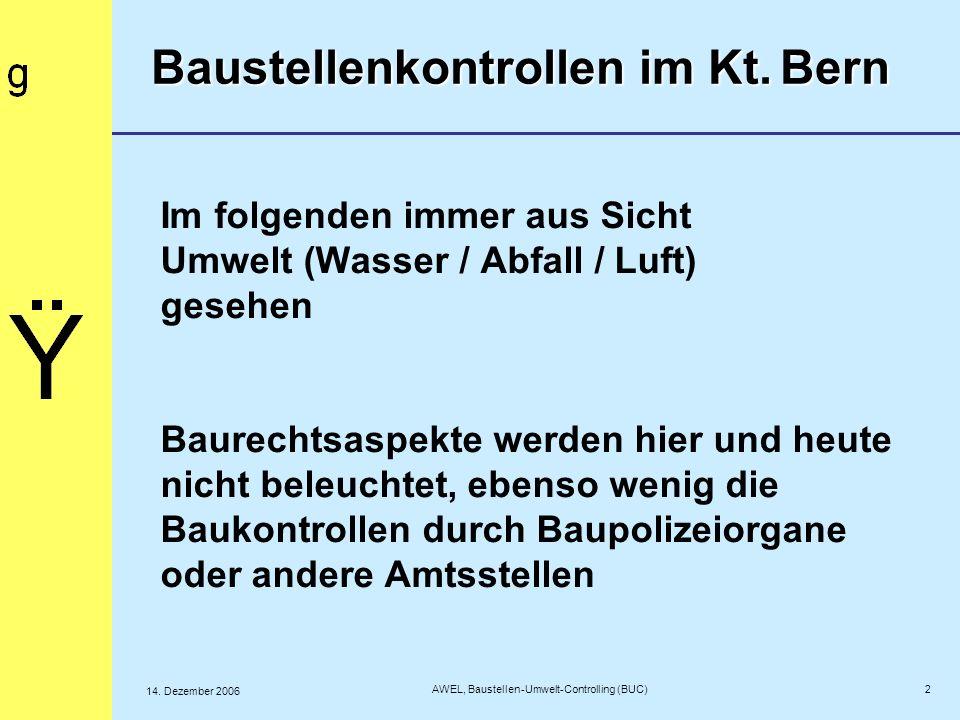 23 AWEL, Baustellen-Umwelt-Controlling (BUC) 14.