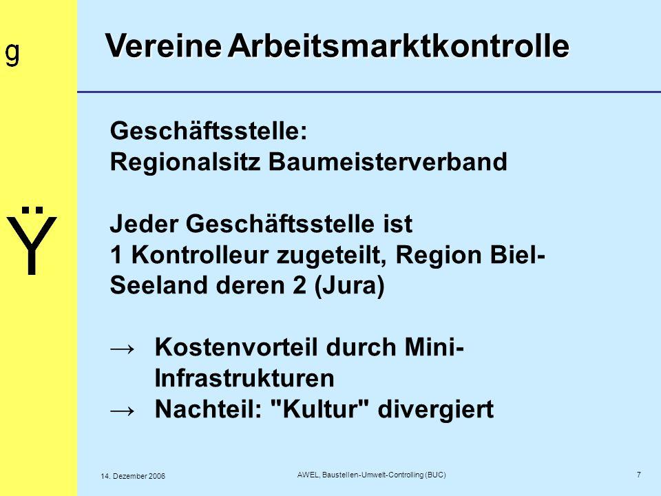 Geschäftsstelle: Regionalsitz Baumeisterverband Jeder Geschäftsstelle ist 1 Kontrolleur zugeteilt, Region Biel- Seeland deren 2 (Jura)Kostenvorteil du