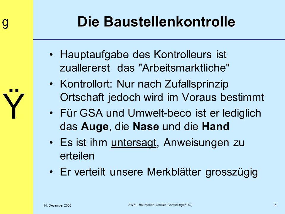 9 AWEL, Baustellen-Umwelt-Controlling (BUC) 14.