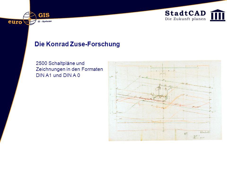 Die Konrad Zuse-Forschung 2500 Schaltpläne und Zeichnungen in den Formaten DIN A1 und DIN A 0