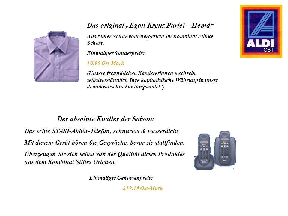 Das original Egon Krenz Partei – Hemd Aus reiner Schurwolle hergestellt im Kombinat Flinke Schere.