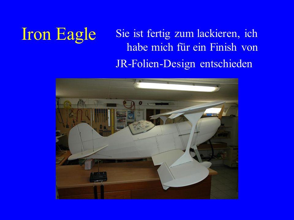 Iron Eagle Nur noch den Rumpf mit Gewebefolie bespannen