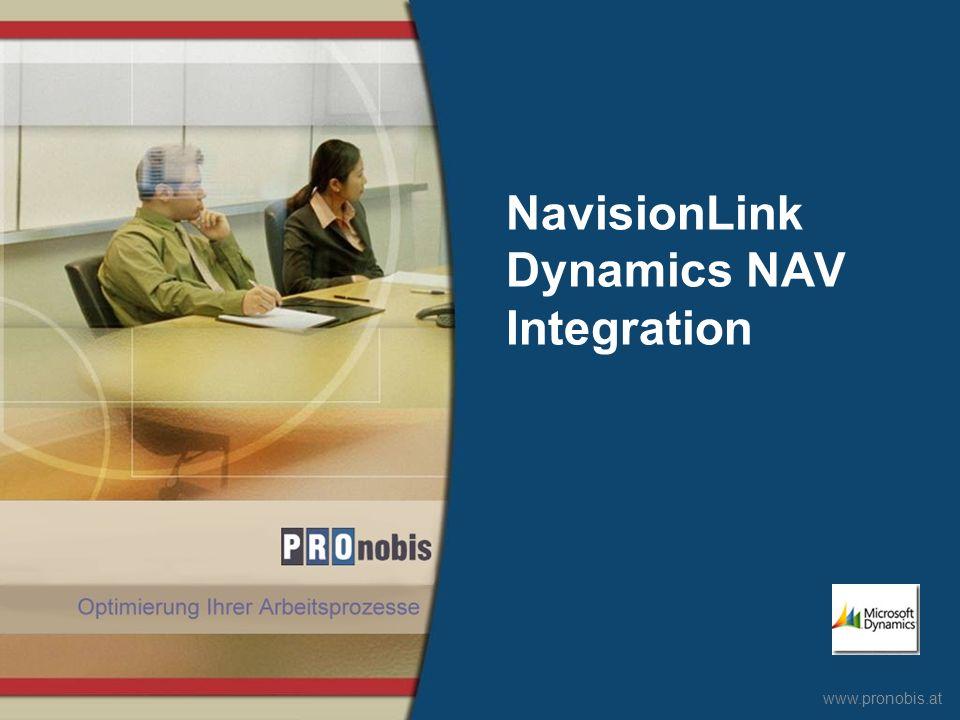 www.pronobis.at NavisionLink Dynamics NAV Integration