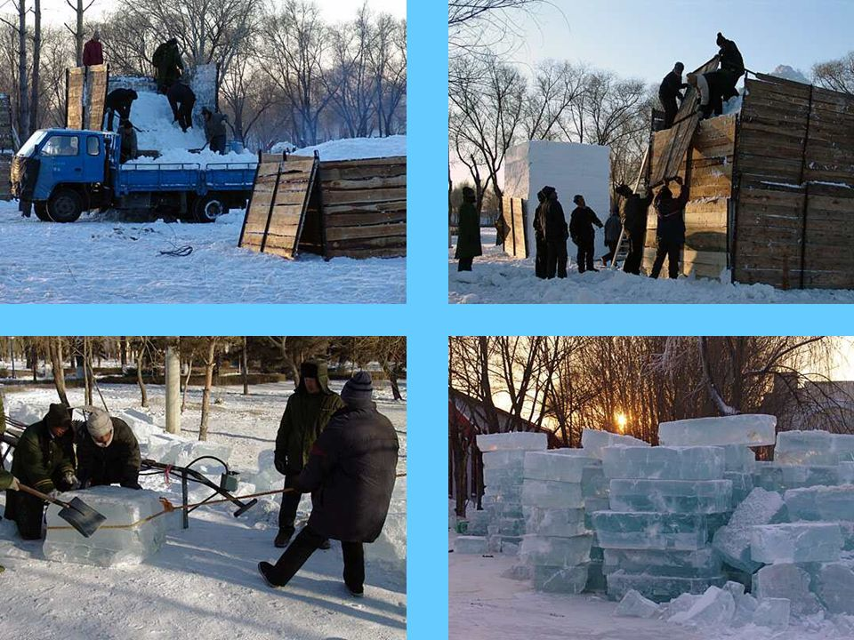 Das Schneefestival ist eine Bezeichnung für Kunst, während das Eisfestival ein Spiegel für die Architektur ist.
