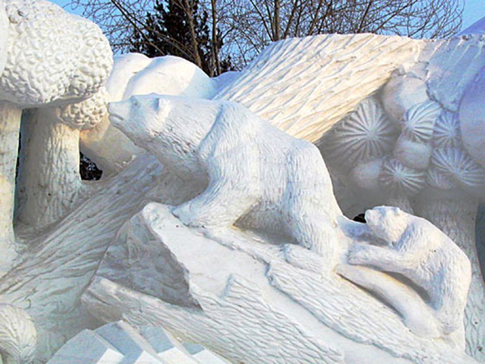 Der Bau von Schnee- und Eisskulpturen hat seinen Ursprung bereits in der Mandschu-Zeit, die erste Ausstellung war erst 1963. Das jährliche Festival da