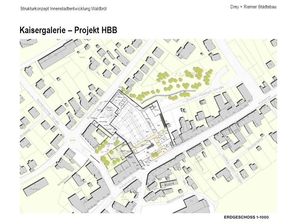 Drey + Riemer Städtebau Strukturkonzept Innenstadtentwicklung Waldbröl Kaisergalerie – Projekt HBB