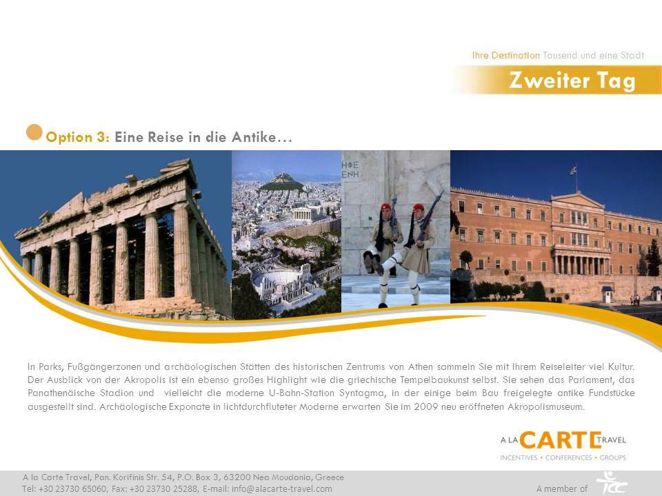 In Parks, Fußgängerzonen und archäologischen Stätten des historischen Zentrums von Athen sammeln Sie mit Ihrem Reiseleiter viel Kultur. Der Ausblick v