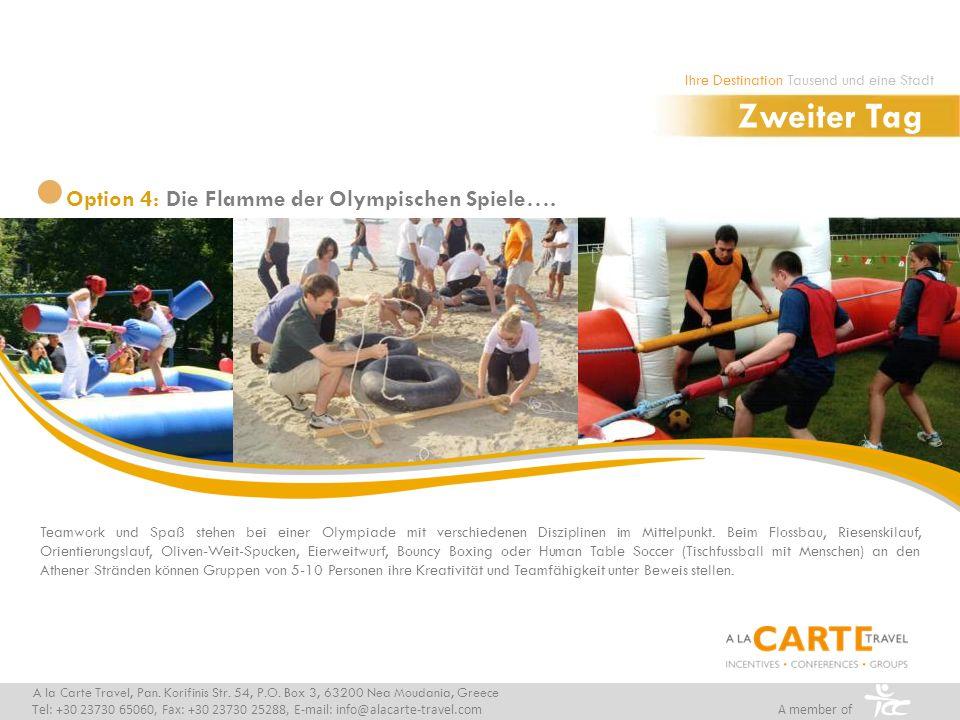 Teamwork und Spaß stehen bei einer Olympiade mit verschiedenen Disziplinen im Mittelpunkt. Beim Flossbau, Riesenskilauf, Orientierungslauf, Oliven-Wei