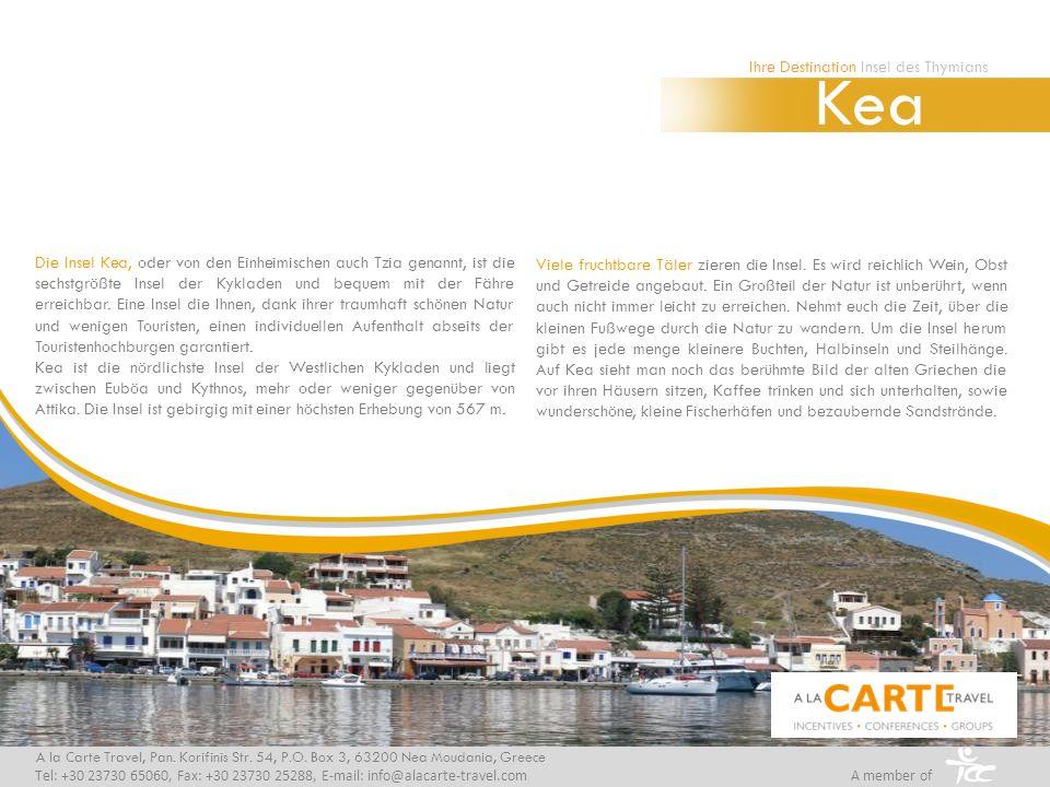 Die Insel Kea, oder von den Einheimischen auch Tzia genannt, ist die sechstgrößte Insel der Kykladen und bequem mit der Fähre erreichbar. Eine Insel d