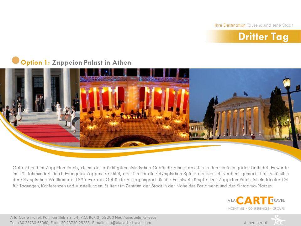 Gala Abend im Zappeion-Palais, einem der prächtigsten historischen Gebäude Athens das sich in den Nationalgärten befindet. Es wurde im 19. Jahrhundert
