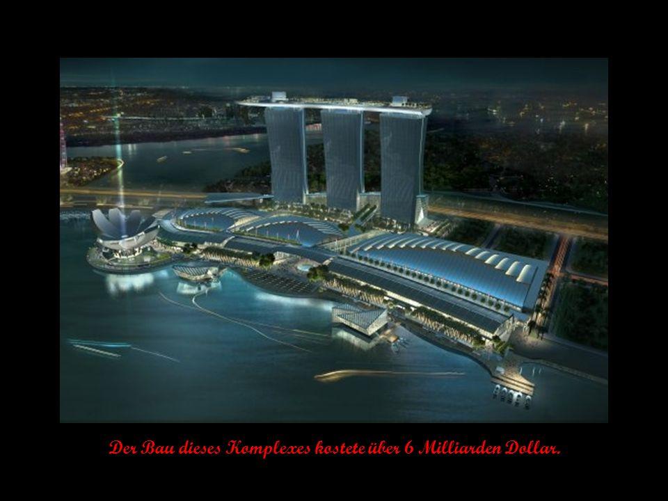Marina Bay Sands ist ein Casino mit angeschlossenem Hotel.