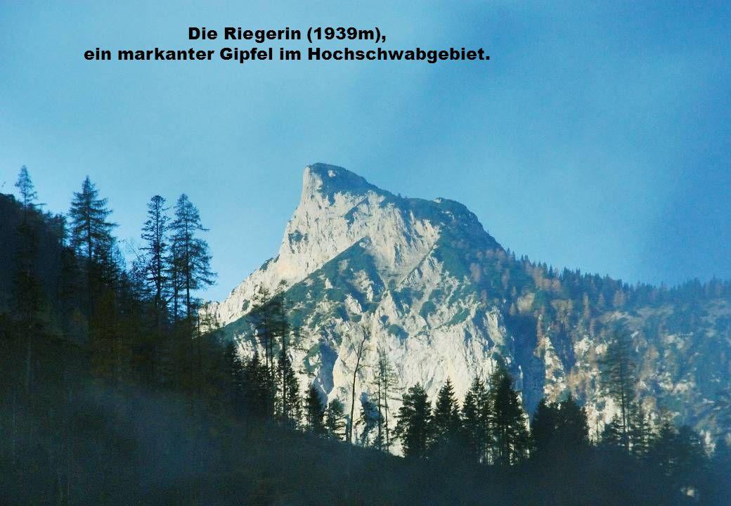 Die Riegerin (1939m), ein markanter Gipfel im Hochschwabgebiet.