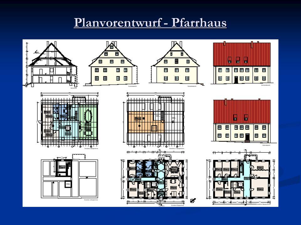 Planvorentwurf - Pfarrhaus