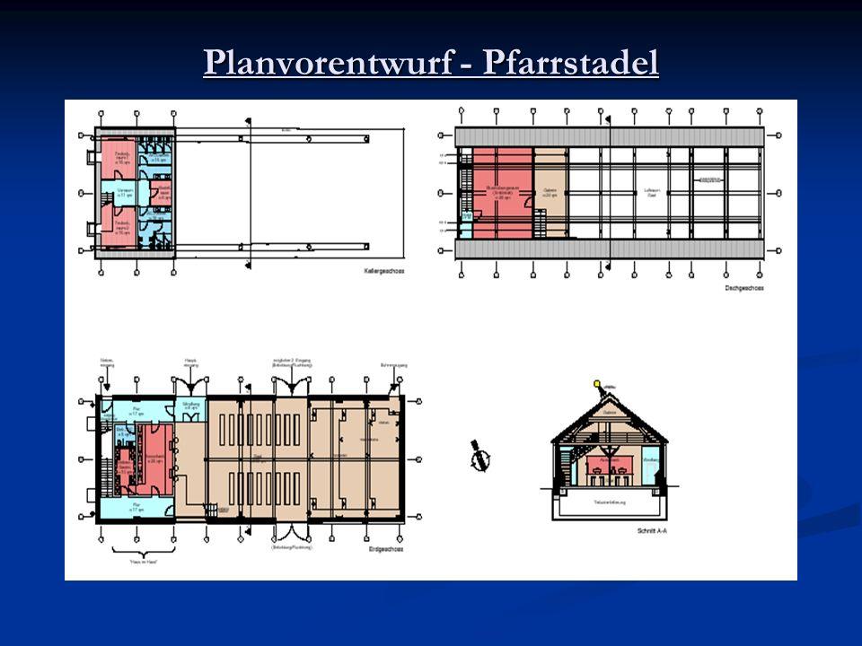 Planvorentwurf - Pfarrstadel