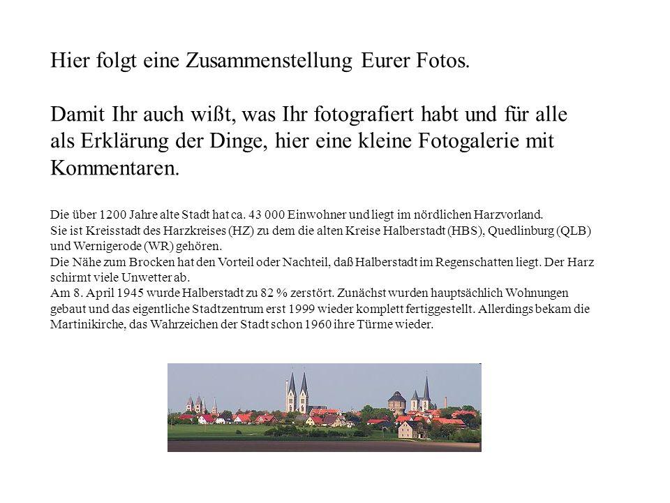 1887 erhielt Halberstadt eine Pferdebahn Seit 1903 fährt die Elektrische (Spurweite 1000 mm)