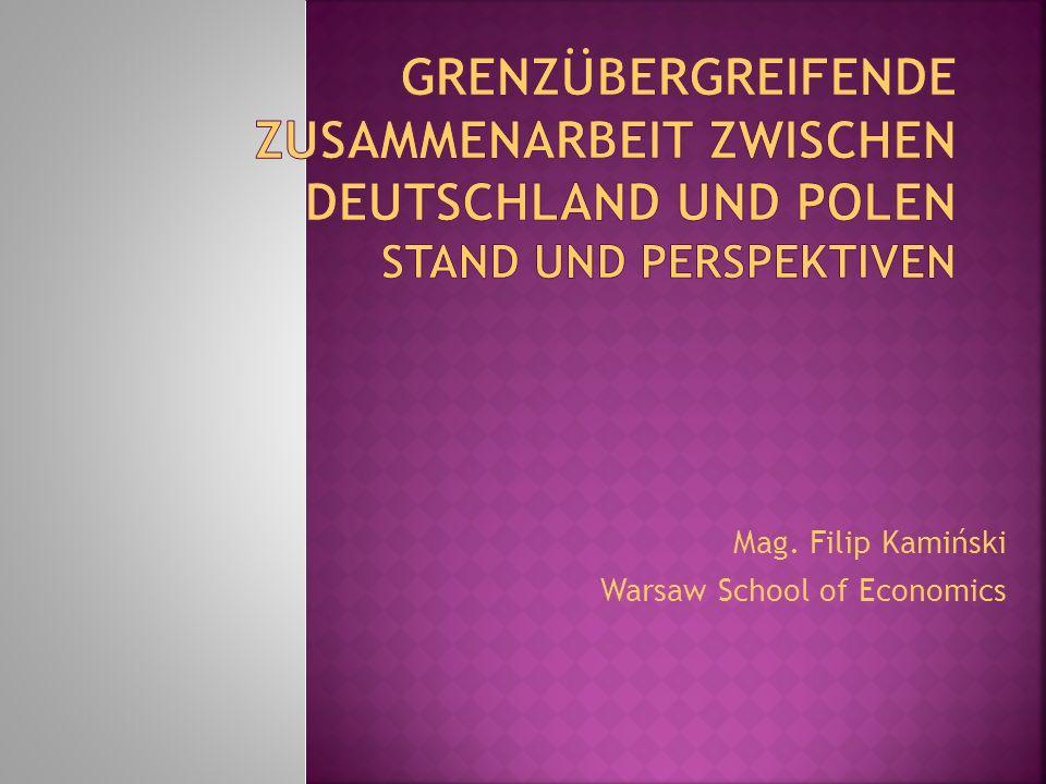Mag. Filip Kamiński Warsaw School of Economics