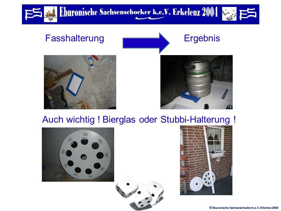 © Eburonische Sachsenschocker k.e.V. Erkelenz 2004 FASSADENFARBE ! Lecker Der Würfel nimmt Form an !