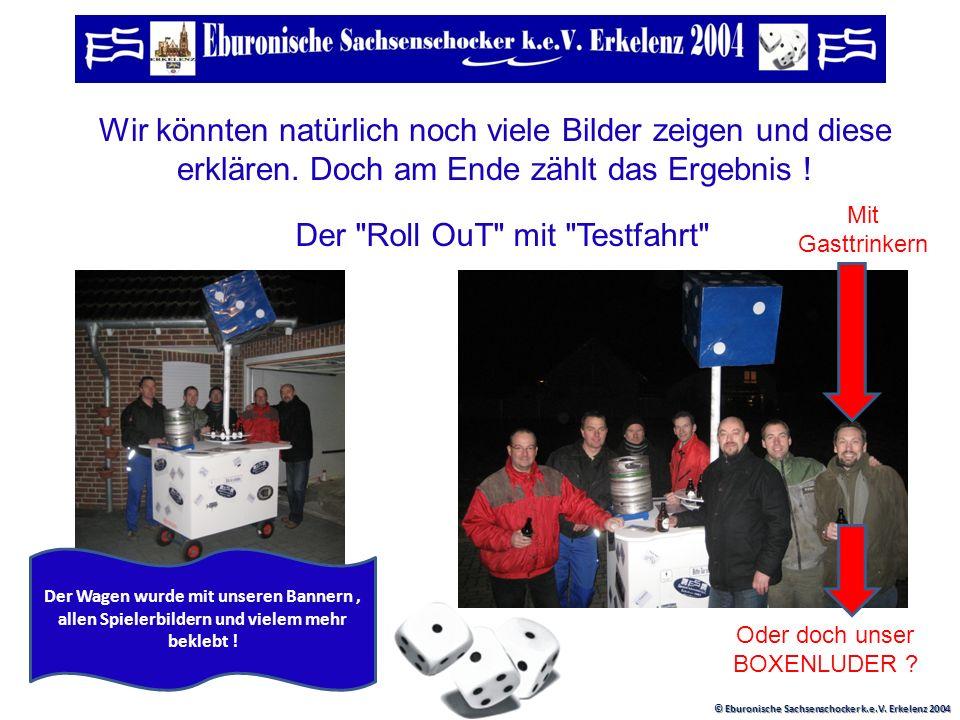 © Eburonische Sachsenschocker k.e.V. Erkelenz 2004 Fasshalterung Auch wichtig ! Bierglas oder Stubbi-Halterung ! Ergebnis