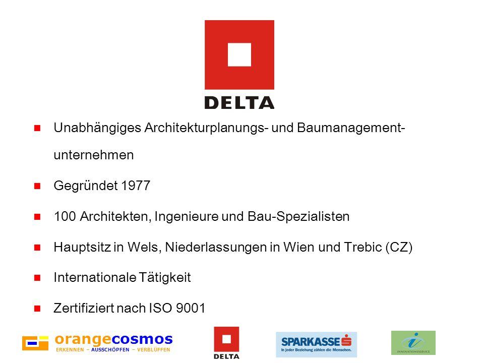 orangecosmos ERKENNEN – AUSSCHÖPFEN – VERBLÜFFEN Unabhängiges Architekturplanungs- und Baumanagement- unternehmen Gegründet 1977 100 Architekten, Inge