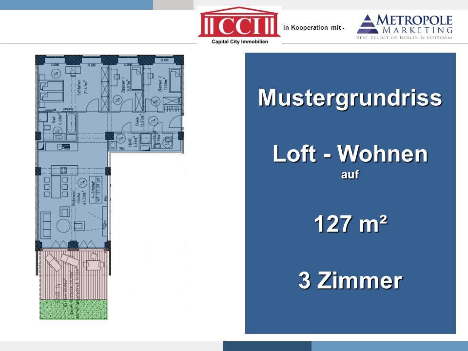 Mustergrundriss Loft - Wohnen auf 127 m² 3 Zimmer - in Kooperation mit -