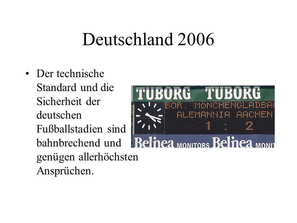 Deutschland 2006 Auch nagelneue Multifunktions- Arenen sind in mehreren deutschen Städten bereits im Bau.