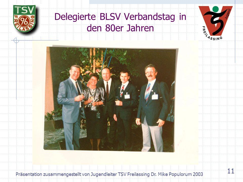 Präsentation zusammengestellt von Jugendleiter TSV Freilassing Dr. Mike Populorum 2003 10 Geschafft – der neue Zubau steht! Richtfest Juli 1987