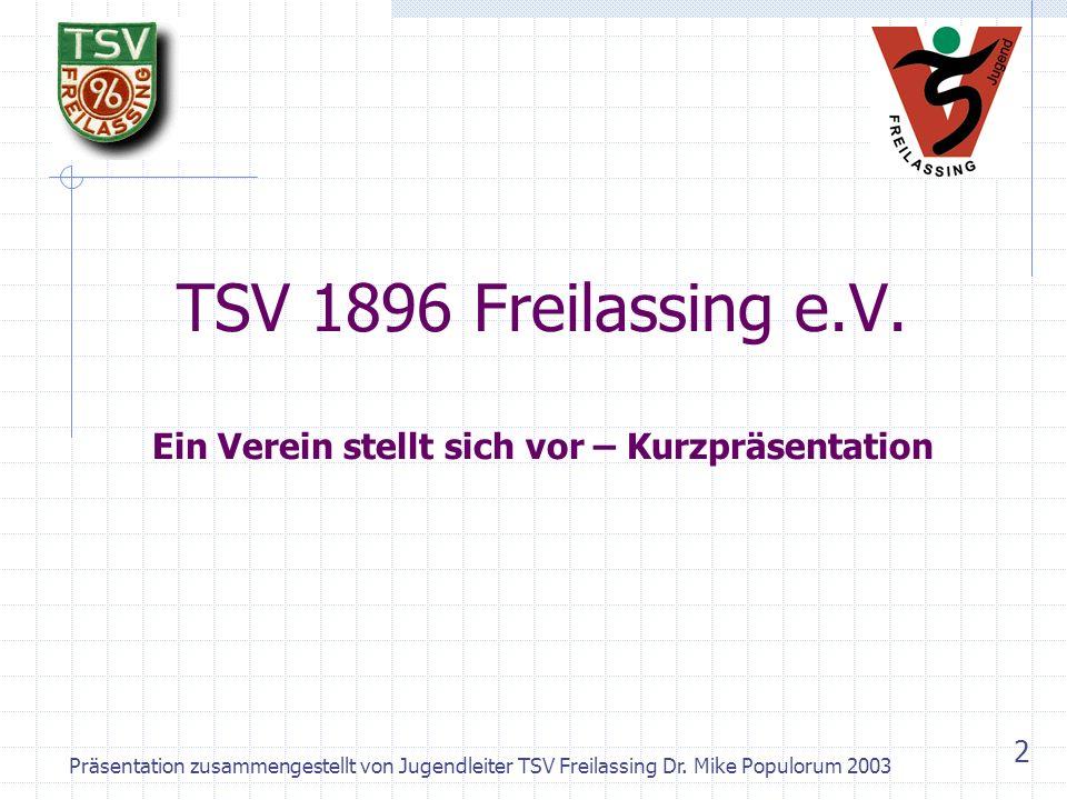 Präsentation zusammengestellt von Jugendleiter TSV Freilassing Dr.
