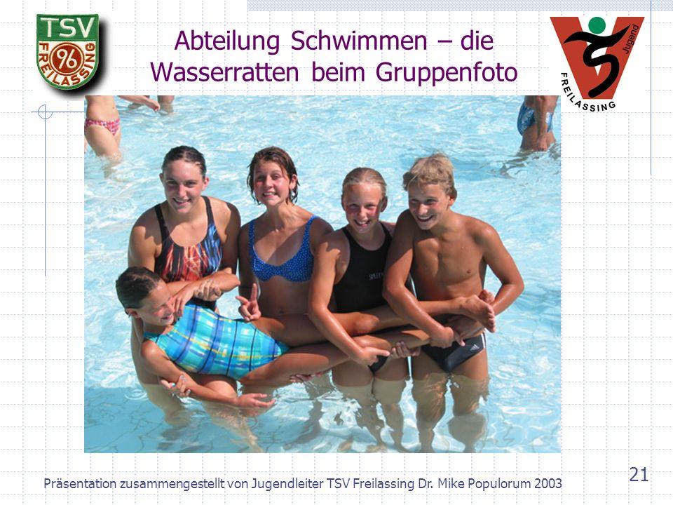 Präsentation zusammengestellt von Jugendleiter TSV Freilassing Dr. Mike Populorum 2003 20 Abteilung Rhönrad-Demo 1990 bei der Weihnachtsfeier