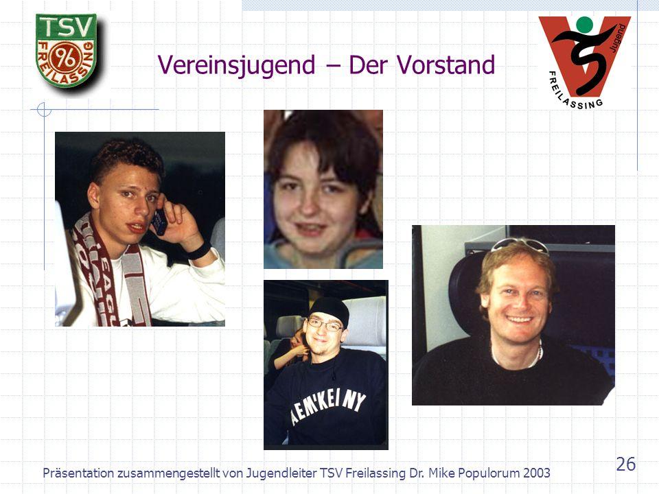 Präsentation zusammengestellt von Jugendleiter TSV Freilassing Dr. Mike Populorum 2003 25 Abteilung Turnen: Rückblick Turnfest 1958 München
