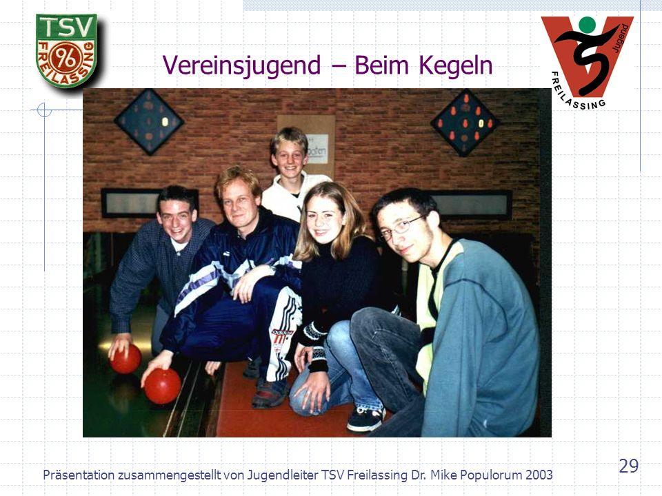Präsentation zusammengestellt von Jugendleiter TSV Freilassing Dr. Mike Populorum 2003 28 Vereinsjugend – Ausflug München